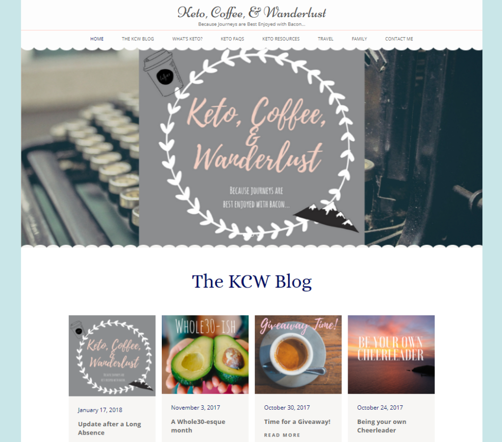 Keto Coffee & Wanderlust Screenshot